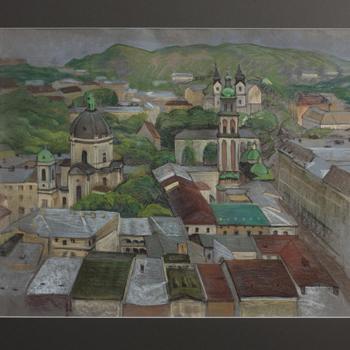 The East Ukrain series pastel artworks